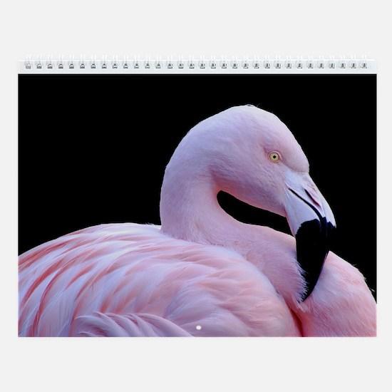 Pink Flamingo Wall Calendar