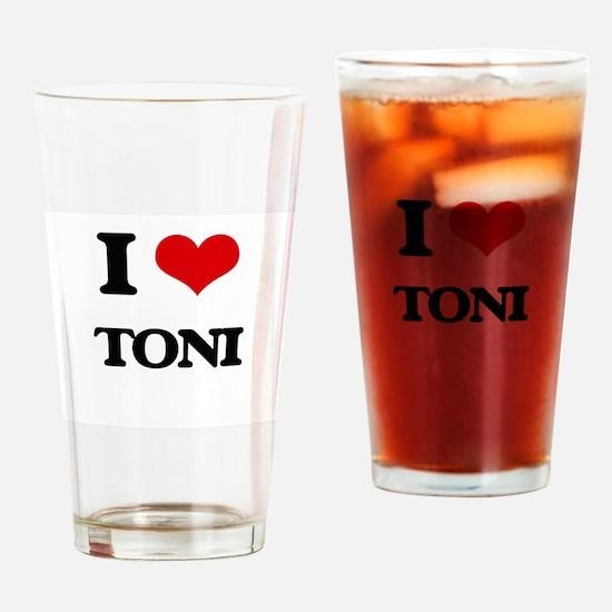 I Love Toni Drinking Glass