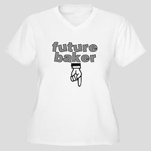 Future baker - Women's Plus Size V-Neck T-Shirt