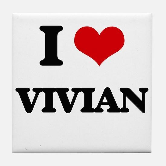 I Love Vivian Tile Coaster