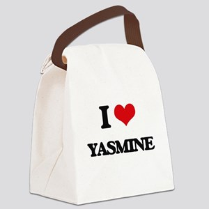 I Love Yasmine Canvas Lunch Bag