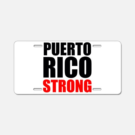 Puerto Rico Strong Aluminum License Plate