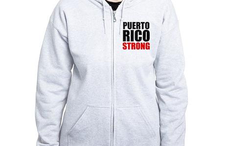 Puerto Rico Strong Zip Hoodie