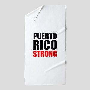 Puerto Rico Strong Beach Towel