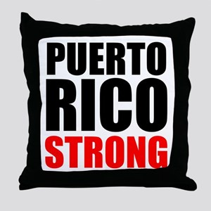 Puerto Rico Strong Throw Pillow