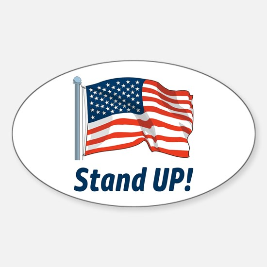 Pro-Football Stand Up! Sticker (Oval)