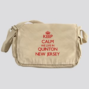 Keep calm we live in Quinton New Jer Messenger Bag