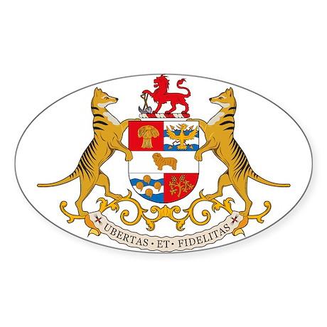 Tasmania Coat of Arms Oval Sticker