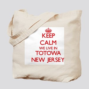 Keep calm we live in Totowa New Jersey Tote Bag