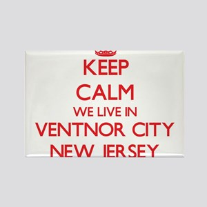 Keep calm we live in Ventnor City New Jers Magnets