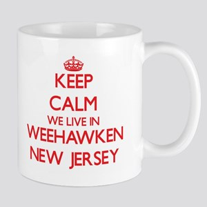 Keep calm we live in Weehawken New Jersey Mugs