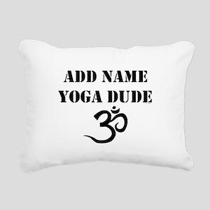 Yoga Dude Rectangular Canvas Pillow