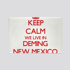 Keep calm we live in Deming New Mexico Magnets