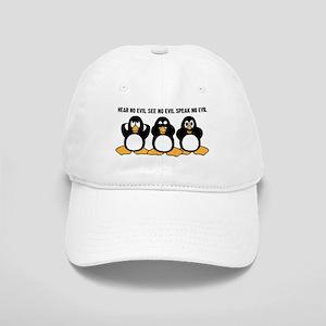 Three Wise Penguins Design Graphic Cap