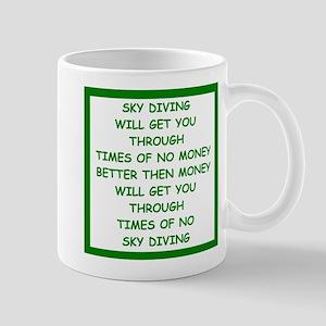 sky diving Mug