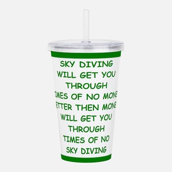 sky diving Acrylic Double-wall Tumbler
