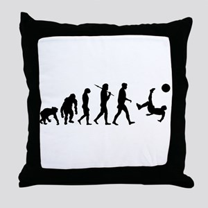 Soccer Evolution Throw Pillow