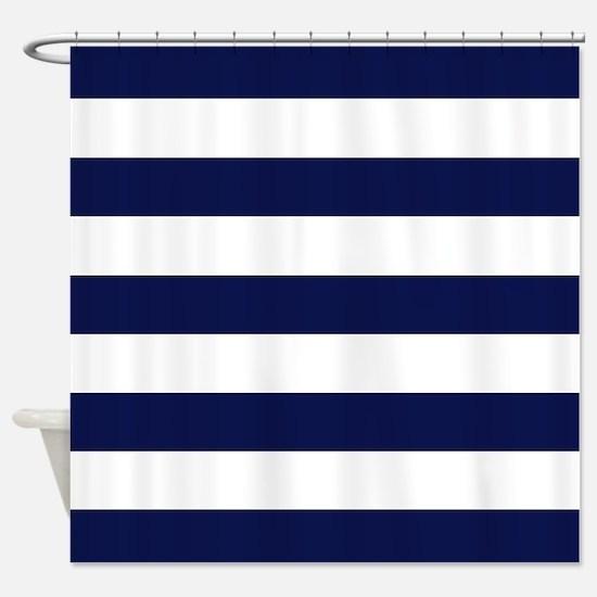 Cute Dark blue Shower Curtain