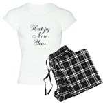 Happy New Year Black Script Pajamas