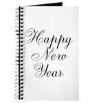 Happy New Year Black Script Journal
