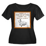 tennis Women's Plus Size Scoop Neck Dark T-Shirt