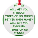 tennis Round Ornament