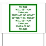 tennis Yard Sign