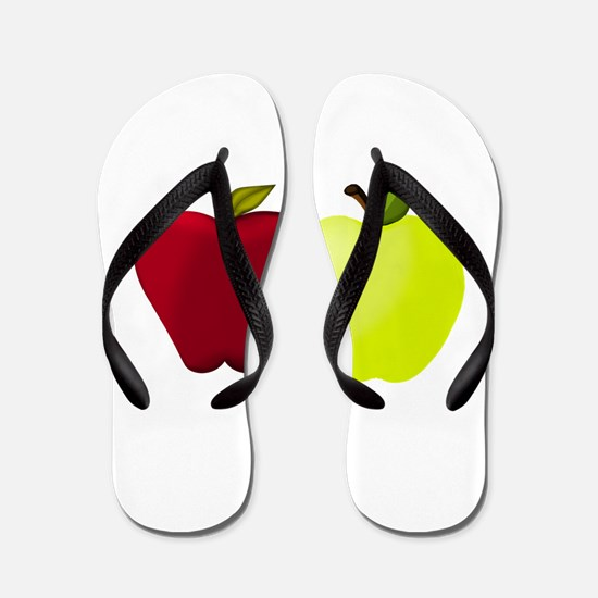 Apples Red and Green Flip Flops