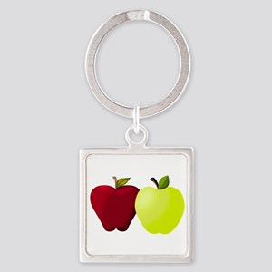 Apples Red and Green Keychains