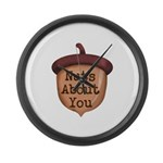 Nuts About You Acorn Large Wall Clock