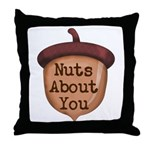 Nuts About You Acorn Throw Pillow
