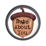 Nuts About You Acorn Wall Clock
