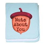 Nuts About You Acorn baby blanket