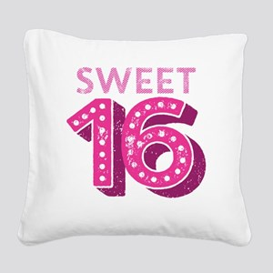 Sweet 16 Square Canvas Pillow