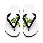 Shamrock Clover Green Flip Flops