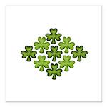 Shamrock Clover Green Square Car Magnet 3