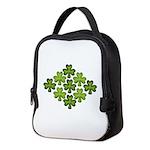 Shamrock Clover Green Neoprene Lunch Bag