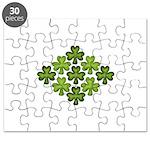 Shamrock Clover Green Puzzle