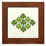 Shamrock Clover Green Framed Tile