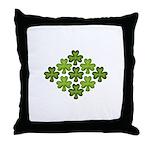 Shamrock Clover Green Throw Pillow
