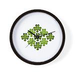 Shamrock Clover Green Wall Clock
