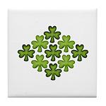 Shamrock Clover Green Tile Coaster