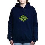 Shamrock Clover Green Women's Hooded Sweatshirt