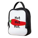 Hot Hot Hot Chili Pepper Neoprene Lunch Bag