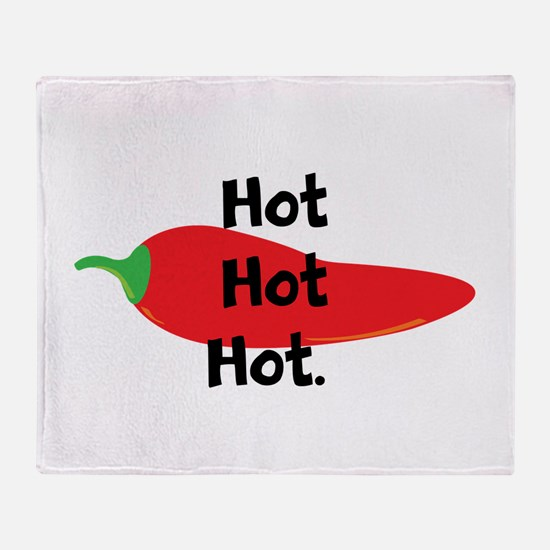 Hot Hot Hot Chili Pepper Throw Blanket