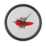 Hot Hot Hot Chili Pepper Large Wall Clock