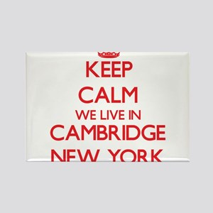 Keep calm we live in Cambridge New York Magnets