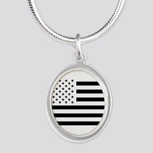 Black and White USA Flag Necklaces