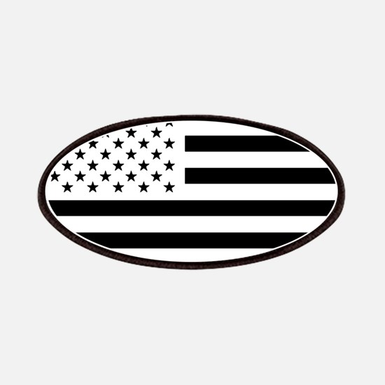 Black and White USA Flag Patches