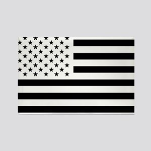 Black and White USA Flag Magnets